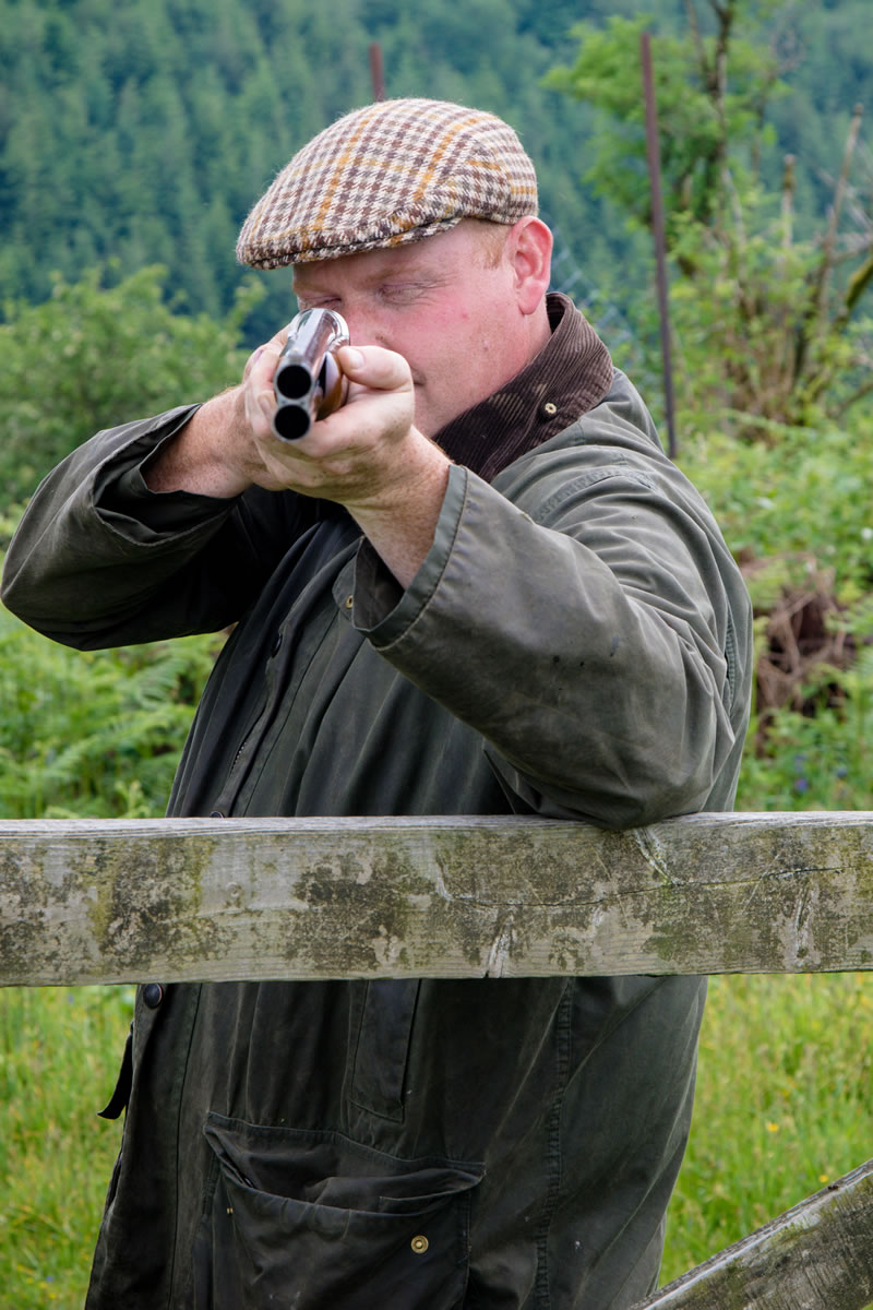 aiming a shotgun in england uk