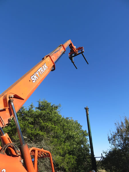 sporting clay tower installation